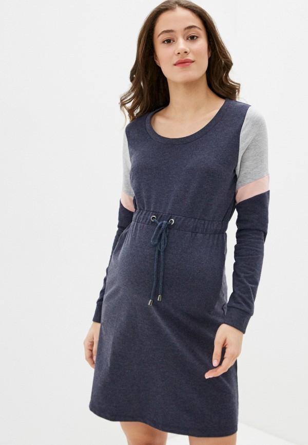 женское платье mamalicious, серое