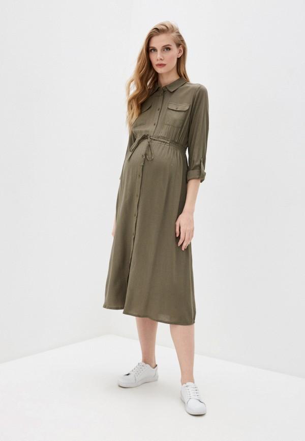 женское платье mamalicious, хаки