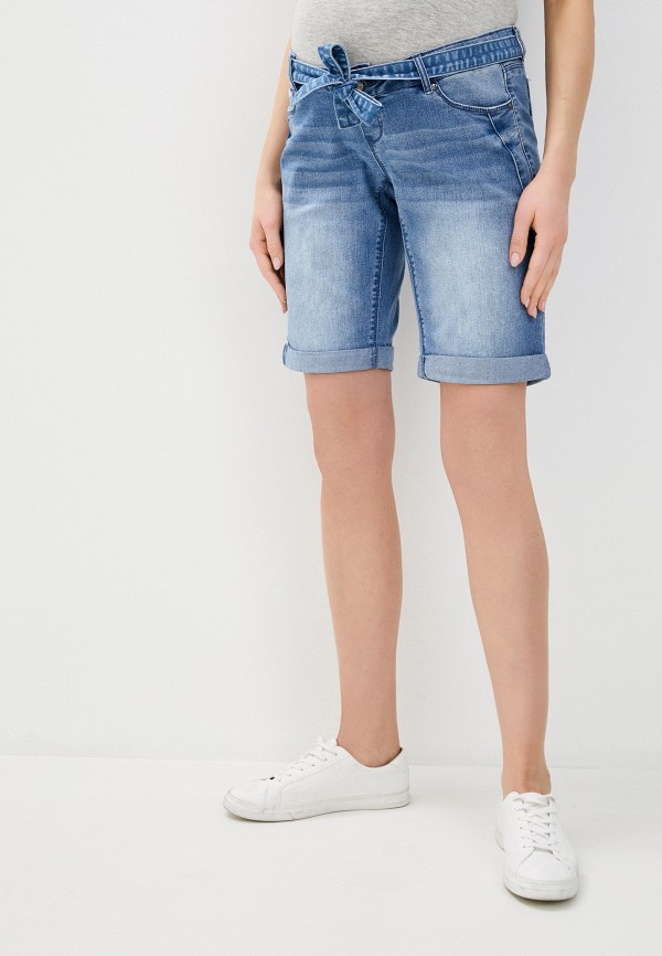 женские джинсовые шорты mamalicious, голубые
