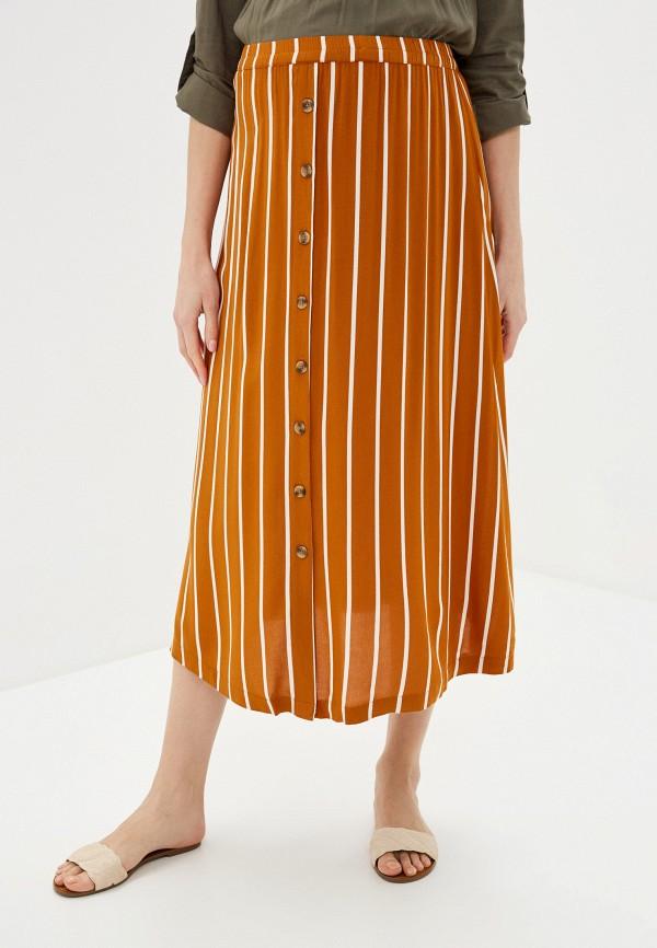 женская юбка mamalicious, коричневая
