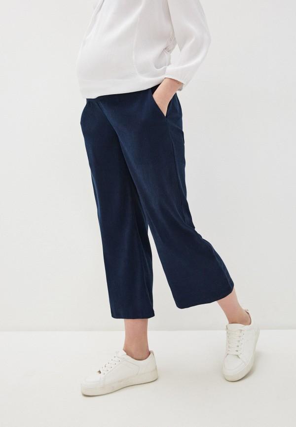 женские повседневные брюки mamalicious, синие