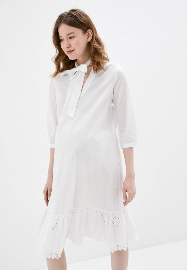 женское повседневные платье mamalicious, белое