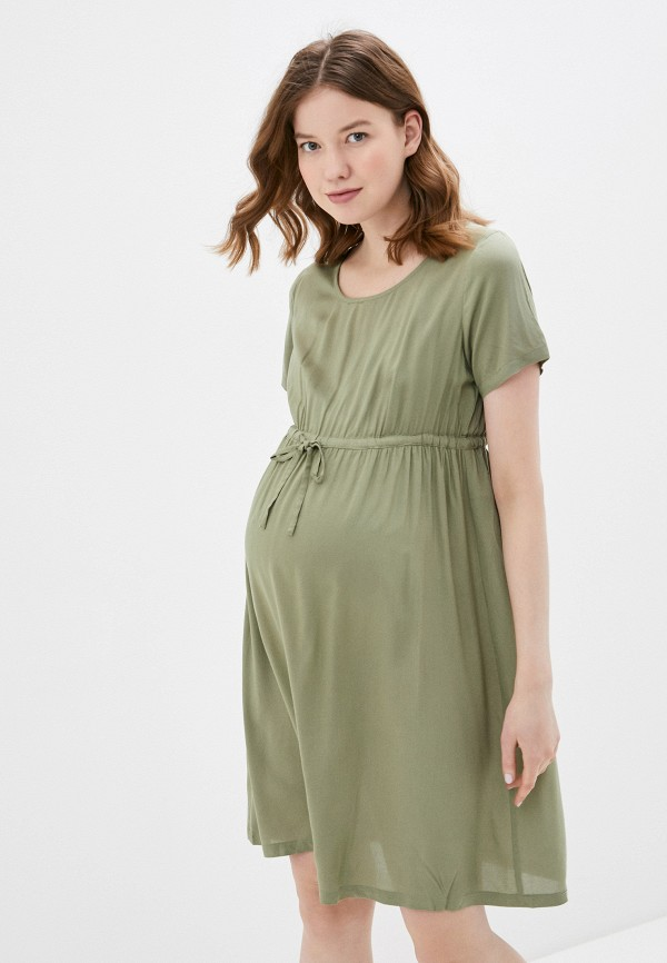 женское повседневные платье mamalicious, хаки