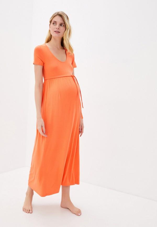 женское повседневные платье mamalicious, оранжевое