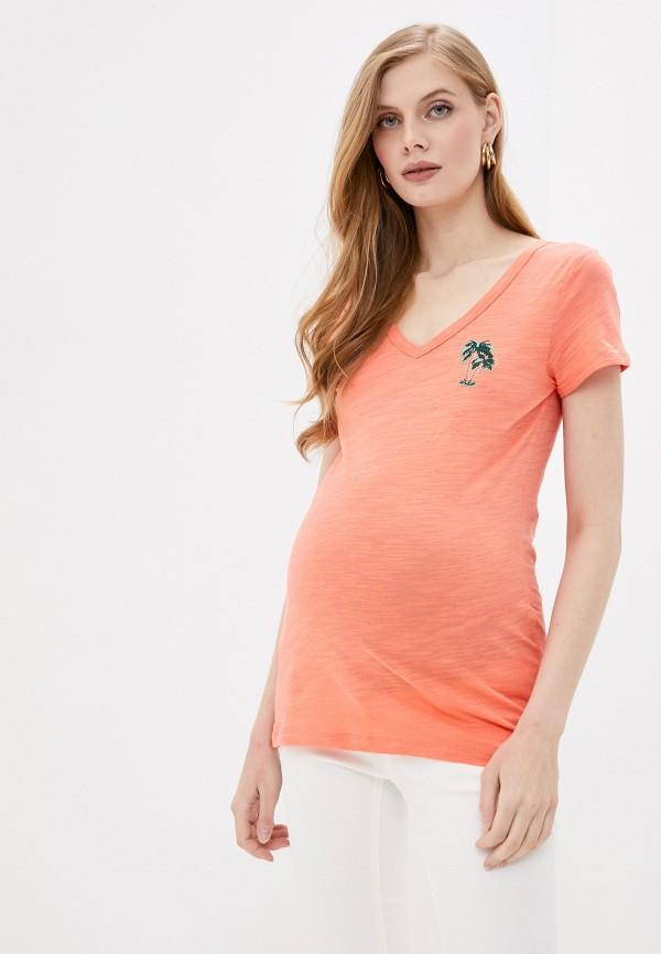 женская футболка mamalicious, оранжевая