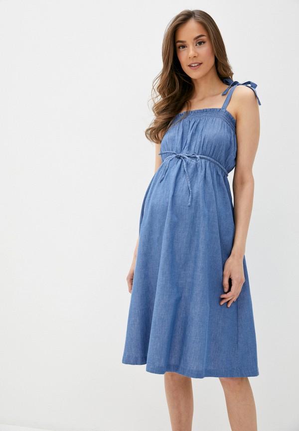 женский сарафан mamalicious, синий
