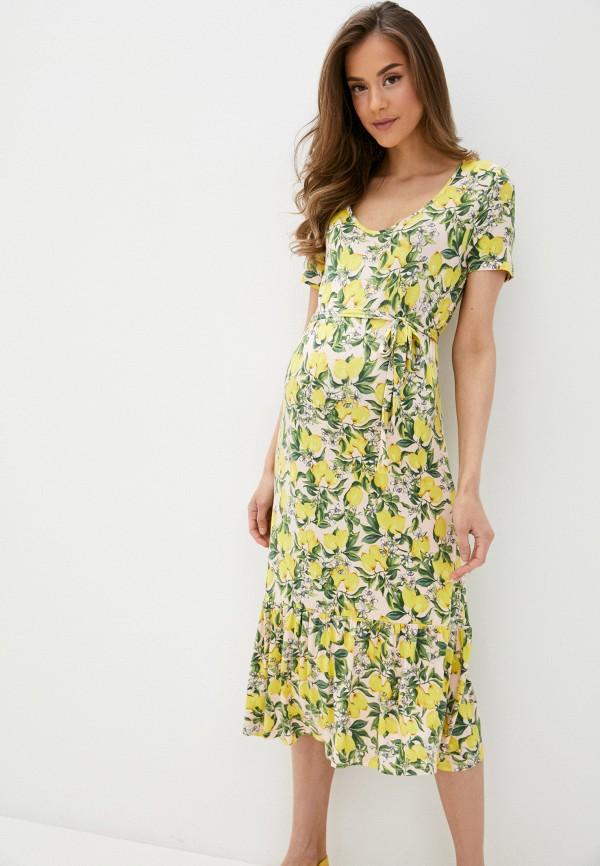 женское повседневные платье mamalicious, желтое