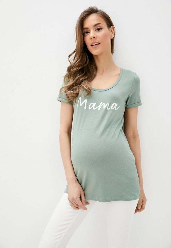 женская футболка mamalicious, хаки