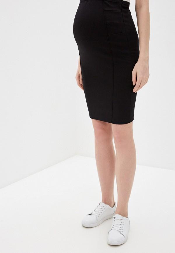 женская зауженные юбка mamalicious, черная