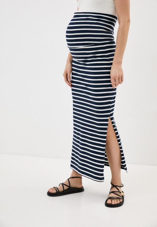 женская юбка mamalicious, синяя