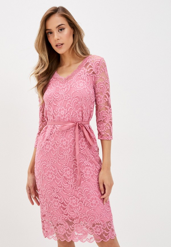женское повседневные платье mamalicious, розовое