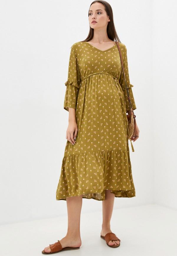 женское повседневные платье mamalicious, зеленое