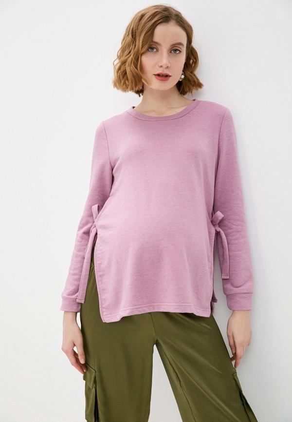женский свитшот mamalicious, фиолетовый