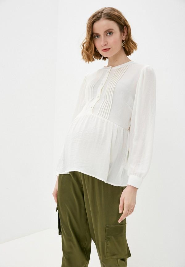 женская блузка mamalicious, бежевая