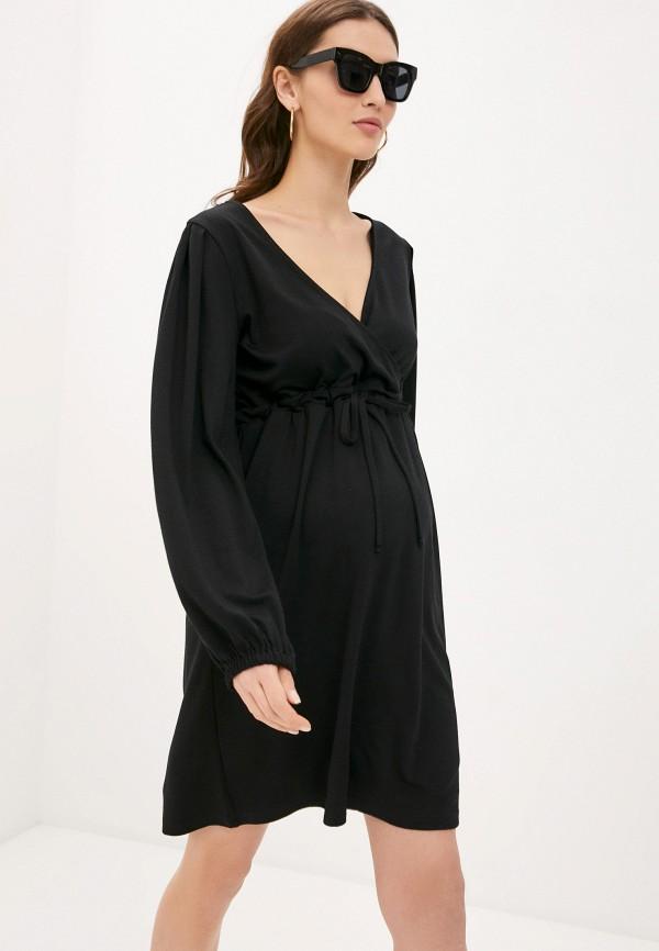 женское платье mamalicious, черное