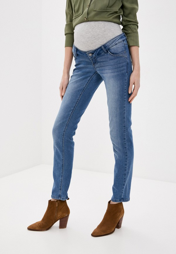 женские джинсы mamalicious, синие