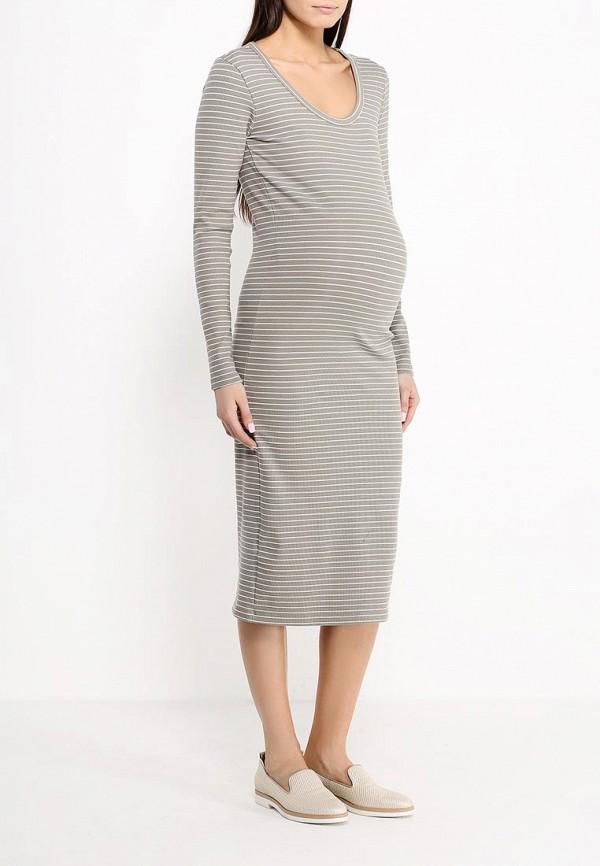Фото 2 - женское платье Mamalicious цвета хаки