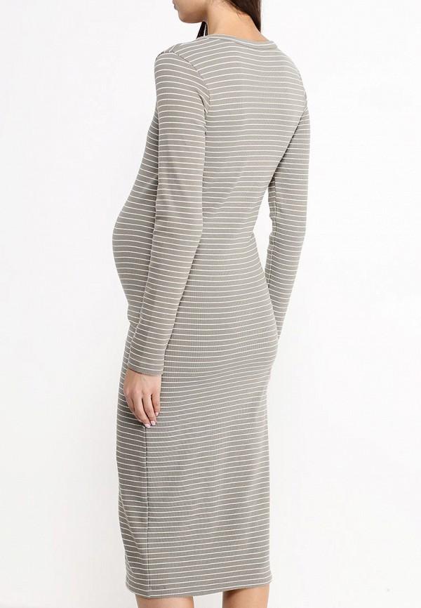 Фото 4 - женское платье Mamalicious цвета хаки