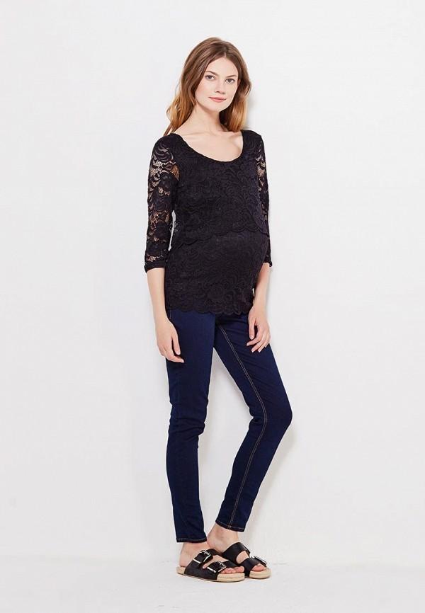 Фото 2 - женскую блузку Mamalicious черного цвета