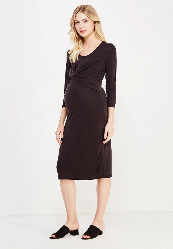 Фото 2 - женское платье Mamalicious черного цвета