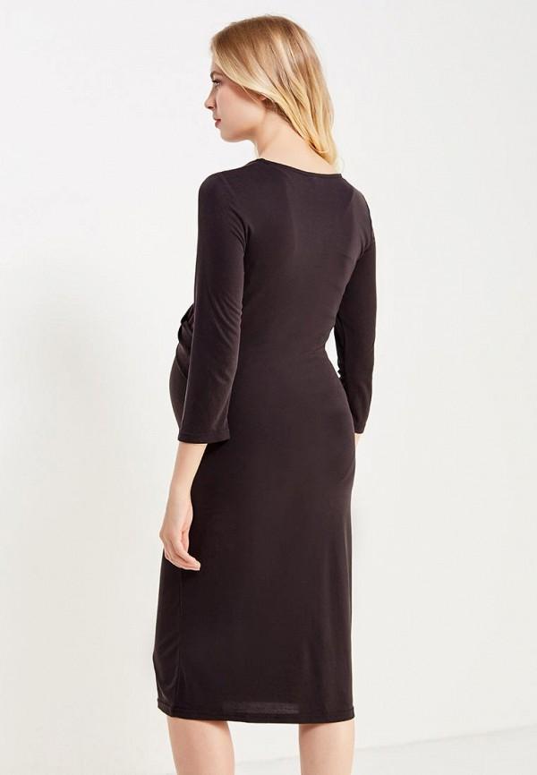 Фото 3 - женское платье Mamalicious черного цвета