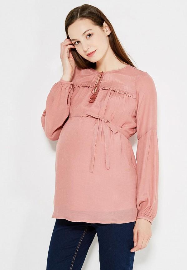 женская блузка mamalicious, розовая
