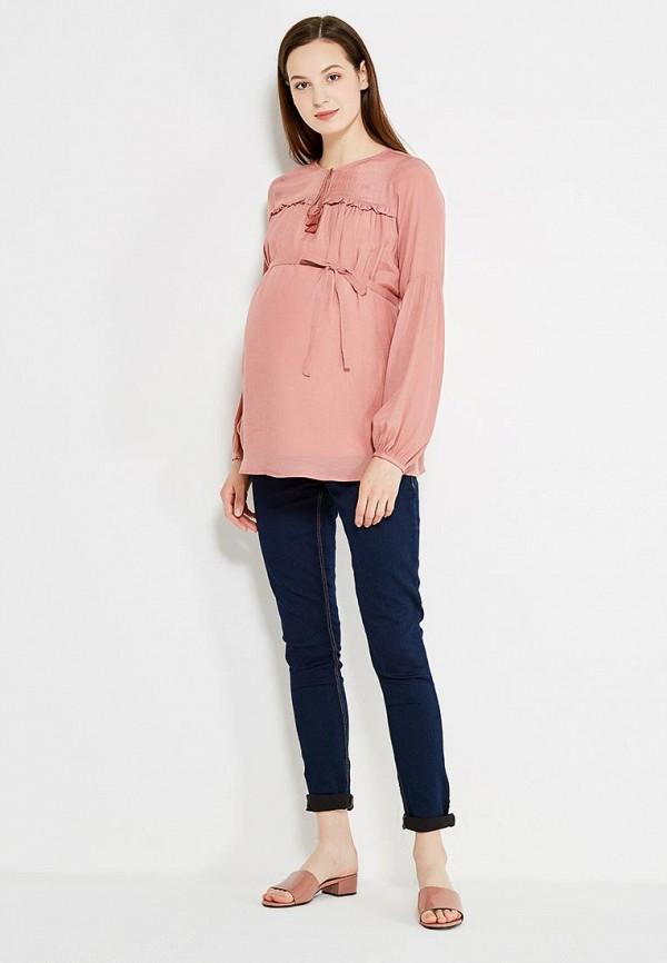 Фото 2 - женскую блузку Mamalicious розового цвета