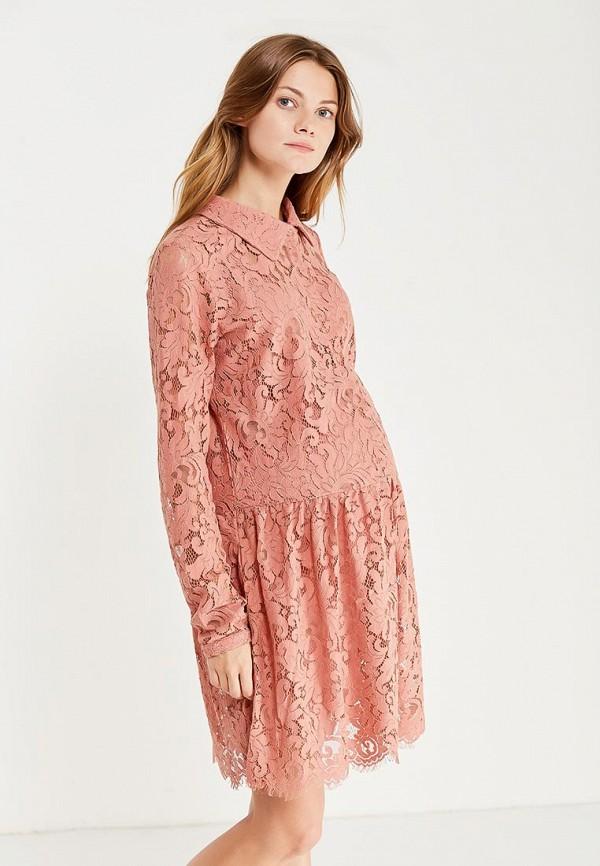женское платье для беременных mamalicious, розовое