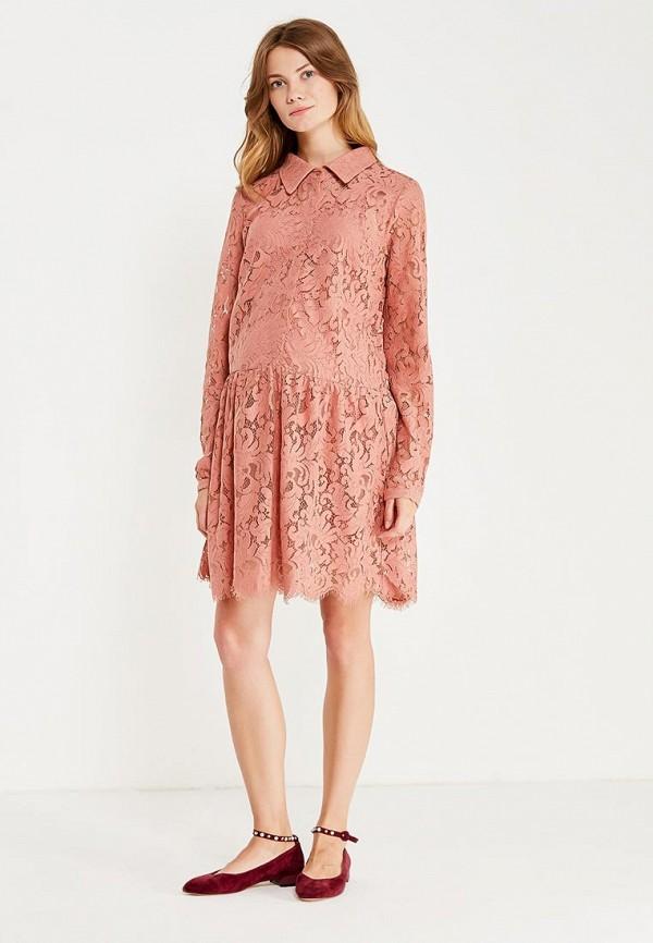 Фото 2 - женское платье Mamalicious розового цвета