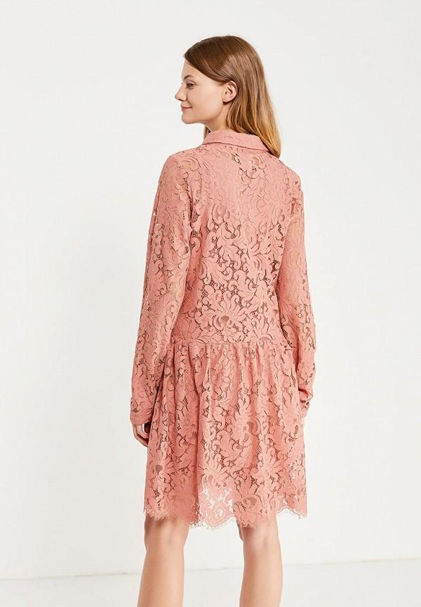 Фото 3 - женское платье Mamalicious розового цвета