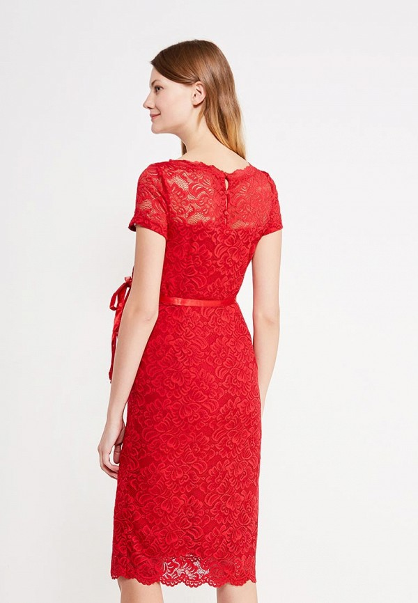 Фото 3 - женское вечернее платье Mamalicious красного цвета