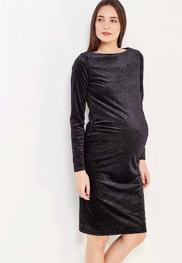 Фото - женское вечернее платье Mamalicious черного цвета
