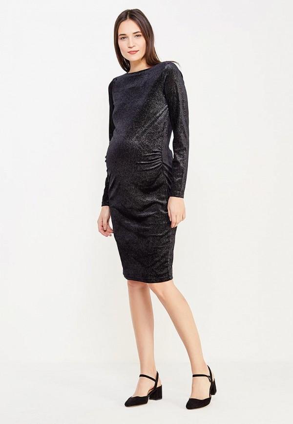 Фото 2 - женское вечернее платье Mamalicious черного цвета