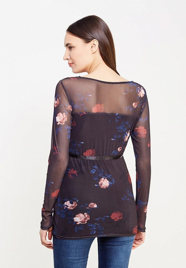 Фото 3 - женскую блузку Mamalicious черного цвета