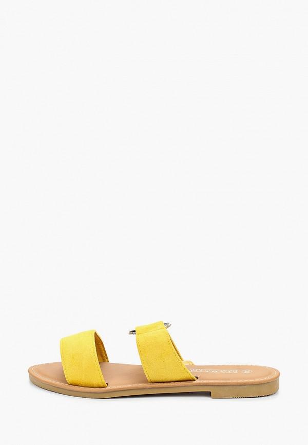 женское сабо martin pescatore, желтое