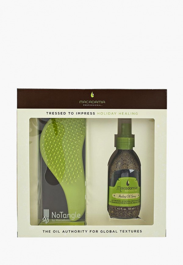 Купить Набор для ухода за волосами Macadamia Natural Oil, РАСЧЕСКА + УХОД СПРЕЙ NEW, MA109LWHIA44, Осень-зима 2018/2019
