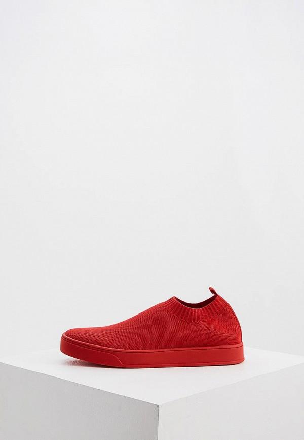 женские слипоны max&co, красные