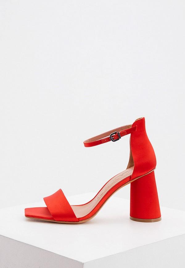женские босоножки max&co, красные