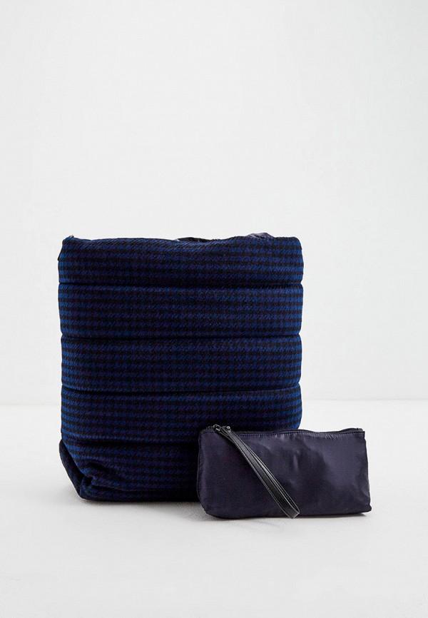 женская сумка-шоперы max&co, синяя
