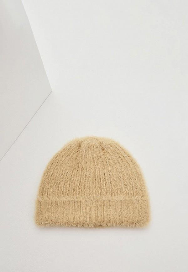женская шапка max&co, бежевая