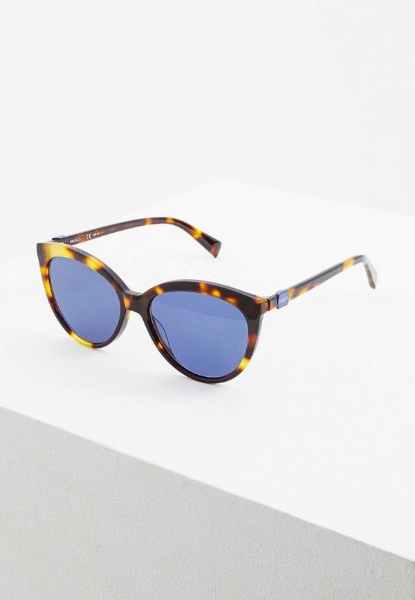 женские солнцезащитные очки max&co, коричневые
