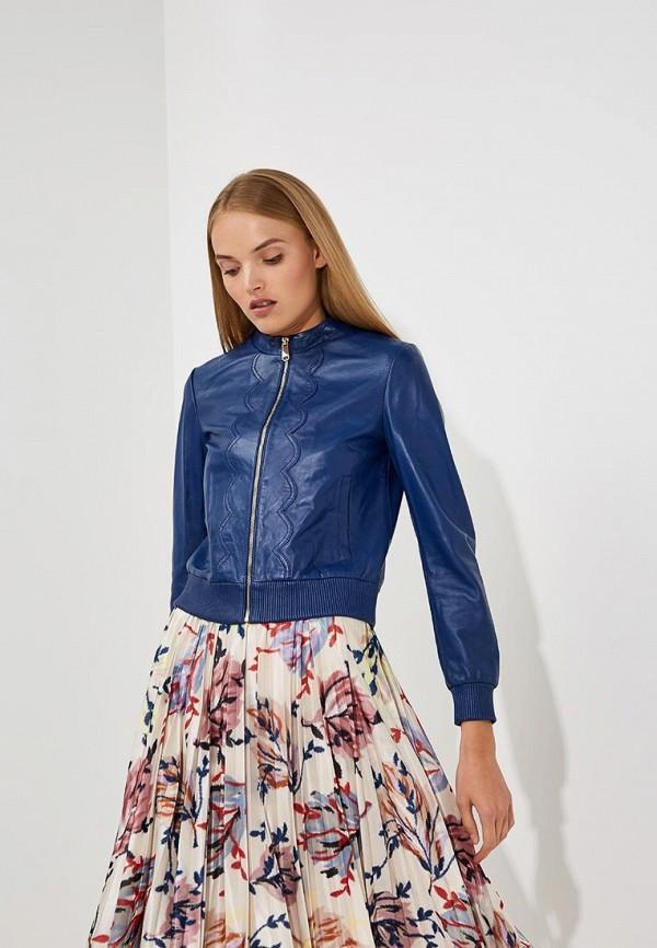 Купить Куртка кожаная Max&Co, ma111ewbyan4, синий, Осень-зима 2018/2019