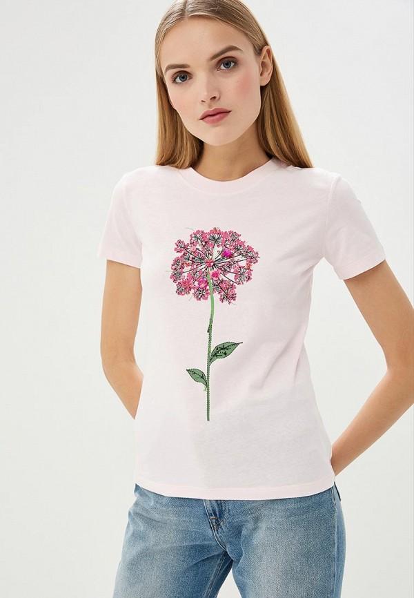 женская футболка max&co, розовая