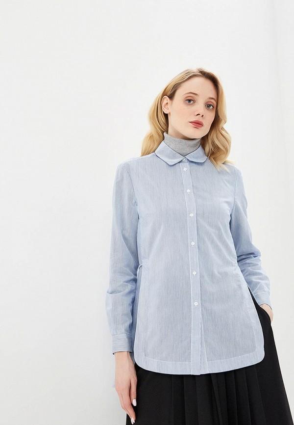 женская рубашка с длинным рукавом max&co, синяя