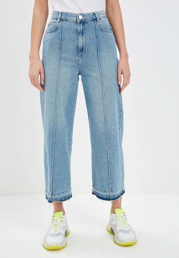 женские джинсы клеш max&co, голубые