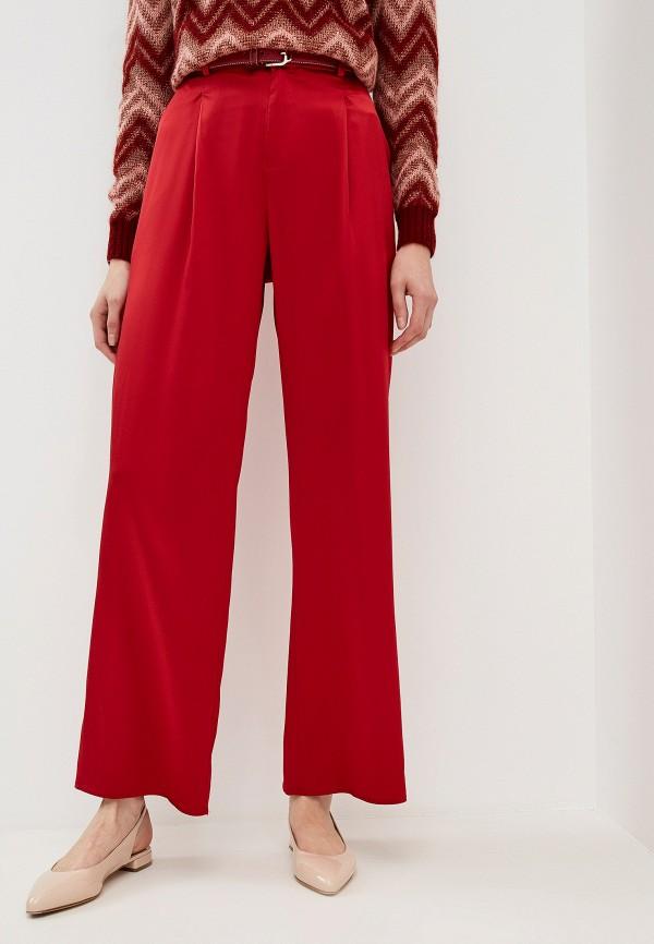 женские классические брюки max&co, красные