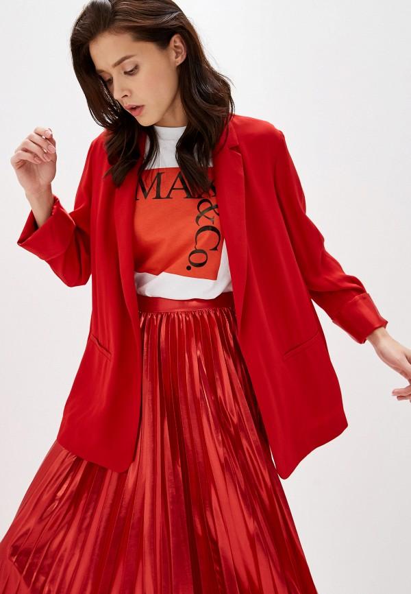 женский пиджак max&co, красный