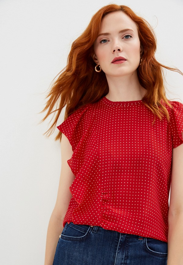 женская блузка max&co, красная