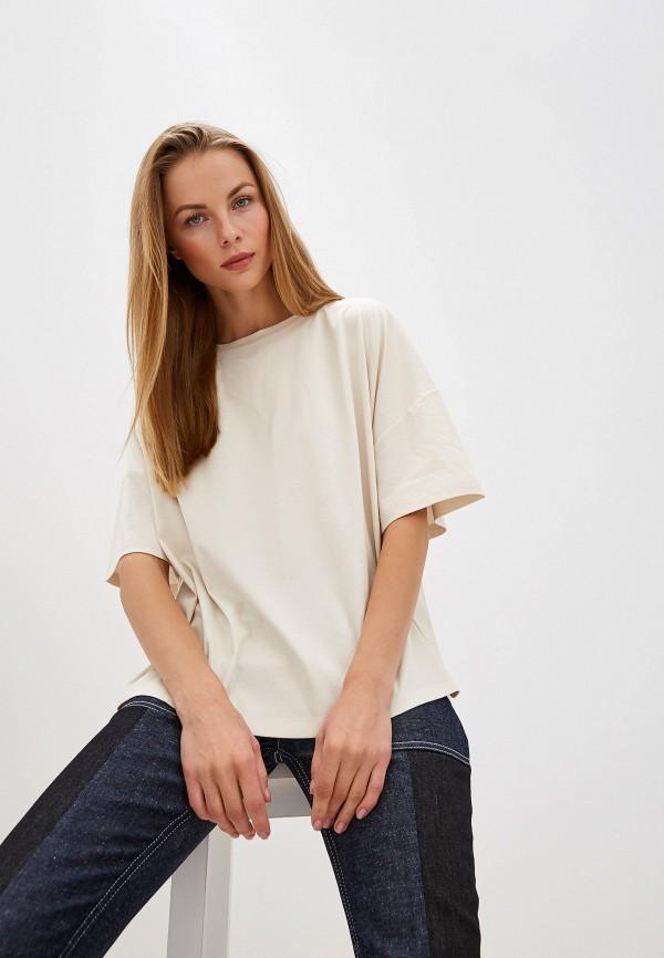 женская футболка max&co, бежевая