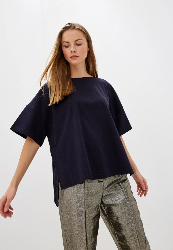 женская футболка max&co, синяя